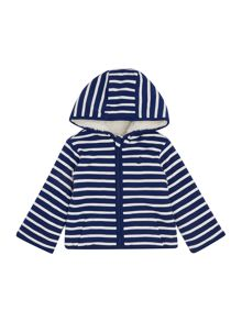 Joules Baby Boys Reversible Stripe Hooded Sweater