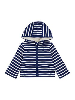 Baby Boys Reversible Stripe Hooded Sweater