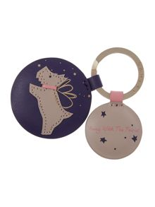Radley Away with the fairies blue keyring