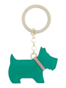 Radley Go walkies green keyring