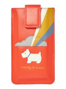 Radley Little ray on sunshine orange large iphone 6 case