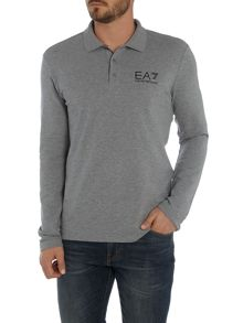 EA7 Long Sleeve Core ID Pique Polo