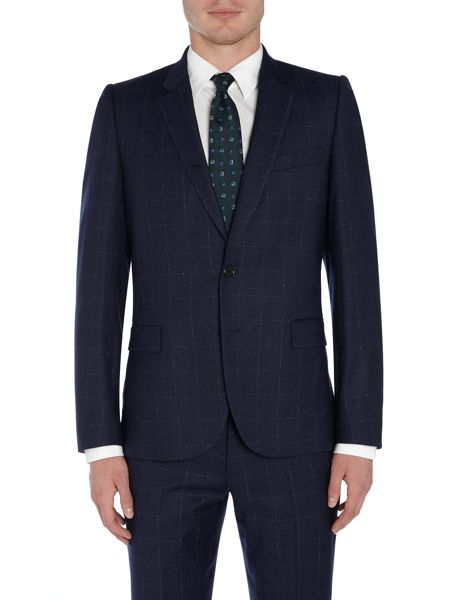 PS By Paul Smith Windowpane Suit Jacket
