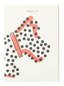 Radley Fleet street white A5 notebook