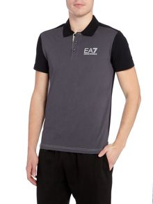 EA7 Short Sleeve Tritonal Polo