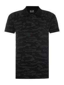 EA7 Short Sleeve Tonal Camo Polo