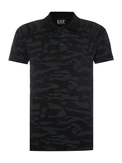 Short Sleeve Tonal Camo Polo