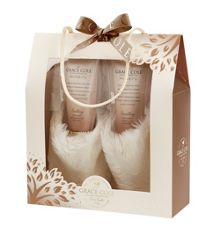 Grace Cole Warm Vanilla & Fig Relax & Revive Slipper Set