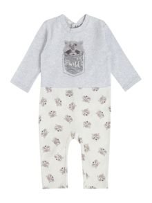 Benetton Boys Top and Bottom Stay Wild Racoon Pyjamas