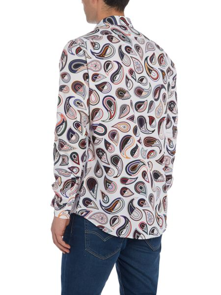 PS By Paul Smith Large Colour Paisley Print Shirt