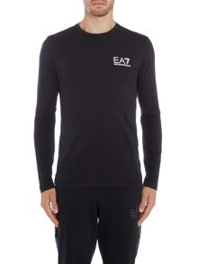 EA7 Long Sleeve Train Core ID Crew Neck Tee