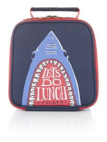 Joules Boys Shark Print Lunch Bag
