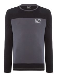 EA7 Long Sleeve Tritonal Crew Neck Tee