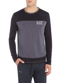EA7 EA7 Long Sleeve Tritonal Crew Neck Tee