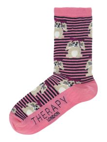 Therapy All over bunny socks