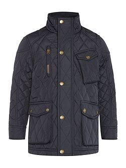 Boys Quilted Coat with Pockets