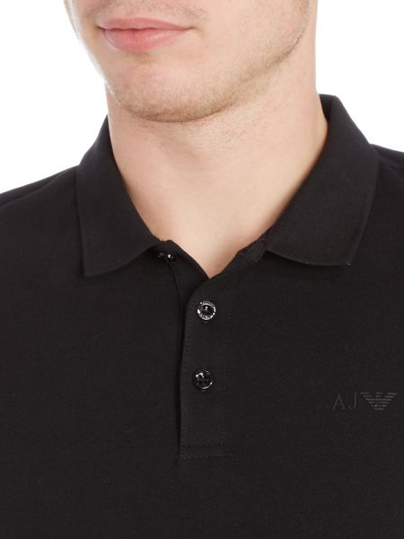 Armani Jeans Regular fit long sleeve logo polo shirt