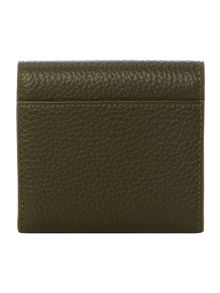 Lulu Guinness Grn sml grainy leather hettie cardholder