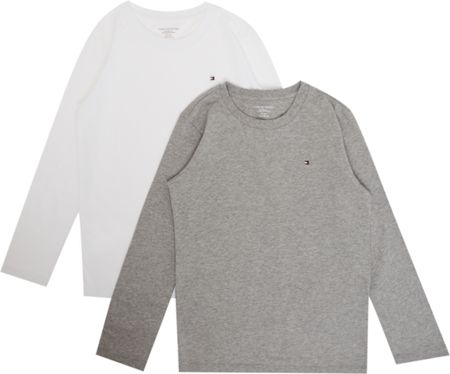 Tommy Hilfiger Boys 2 Pack Long sleeve Cotton Tee