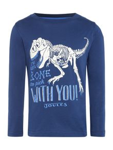 Joules Boys Glow in the Dark Dinosaur T-Shirt
