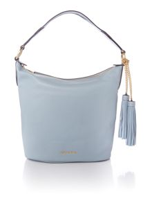 Michael Kors Elana blue shoulder  tote bag