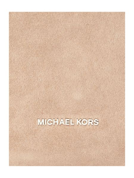 Michael Kors Elyse tan large shoulder bag