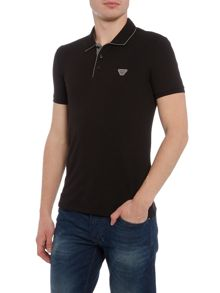 Armani Jeans Regular fit short sleeve contrast logo polo