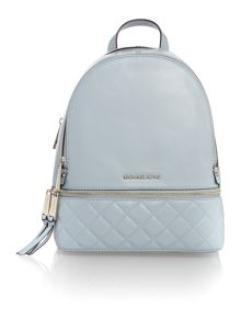 Michael Kors Rhea zip blue medium backpack