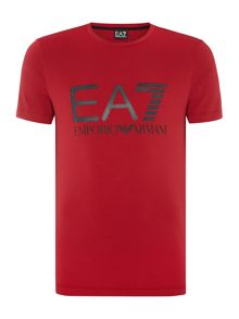 EA7 Short Sleeve Large Logo Crew Neck Tee