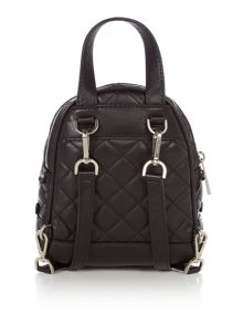 Michael Kors Rhea zip black mini backpack