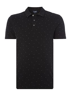 Regular fit all over small eagle print polo