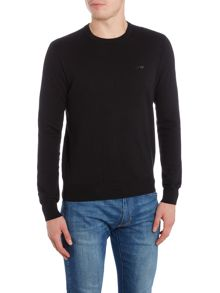 Armani Jeans Crew neck wool cotton mix jumper