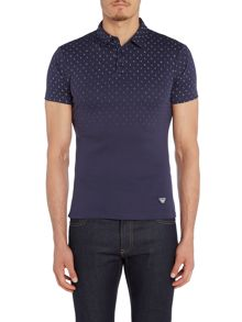 Armani Jeans Regular fit all over letter print polo