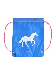 Joules Girls Reflective Horse Drawstring Bag