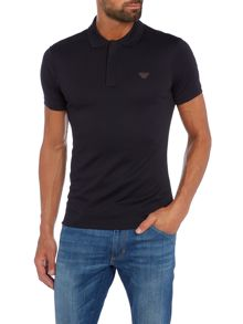 Armani Jeans Regular fit logo contrast sleeve polo