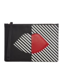 Lulu Guinness Multi Lips pouch