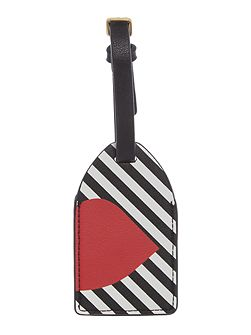 Multi 50:50 stripe luggage tag