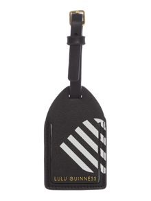 Lulu Guinness Multi 50:50 stripe luggage tag