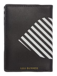 Lulu Guinness Multi 50:50 stripe passport holder