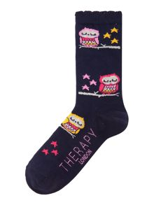 Therapy Owl branch socks
