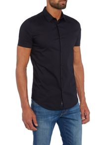 Armani Jeans Regular fit short sleeve stretch poplin shirt