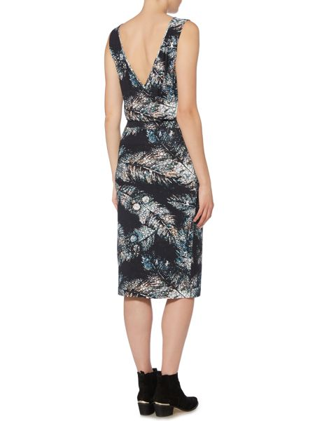 Label Lab Feather print jersey dress