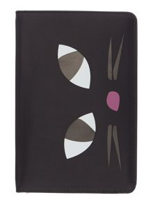 Lulu Guinness Blk kooky cat ipad mini case