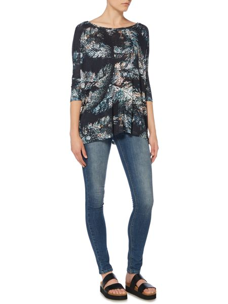 Label Lab Feather print oversized top