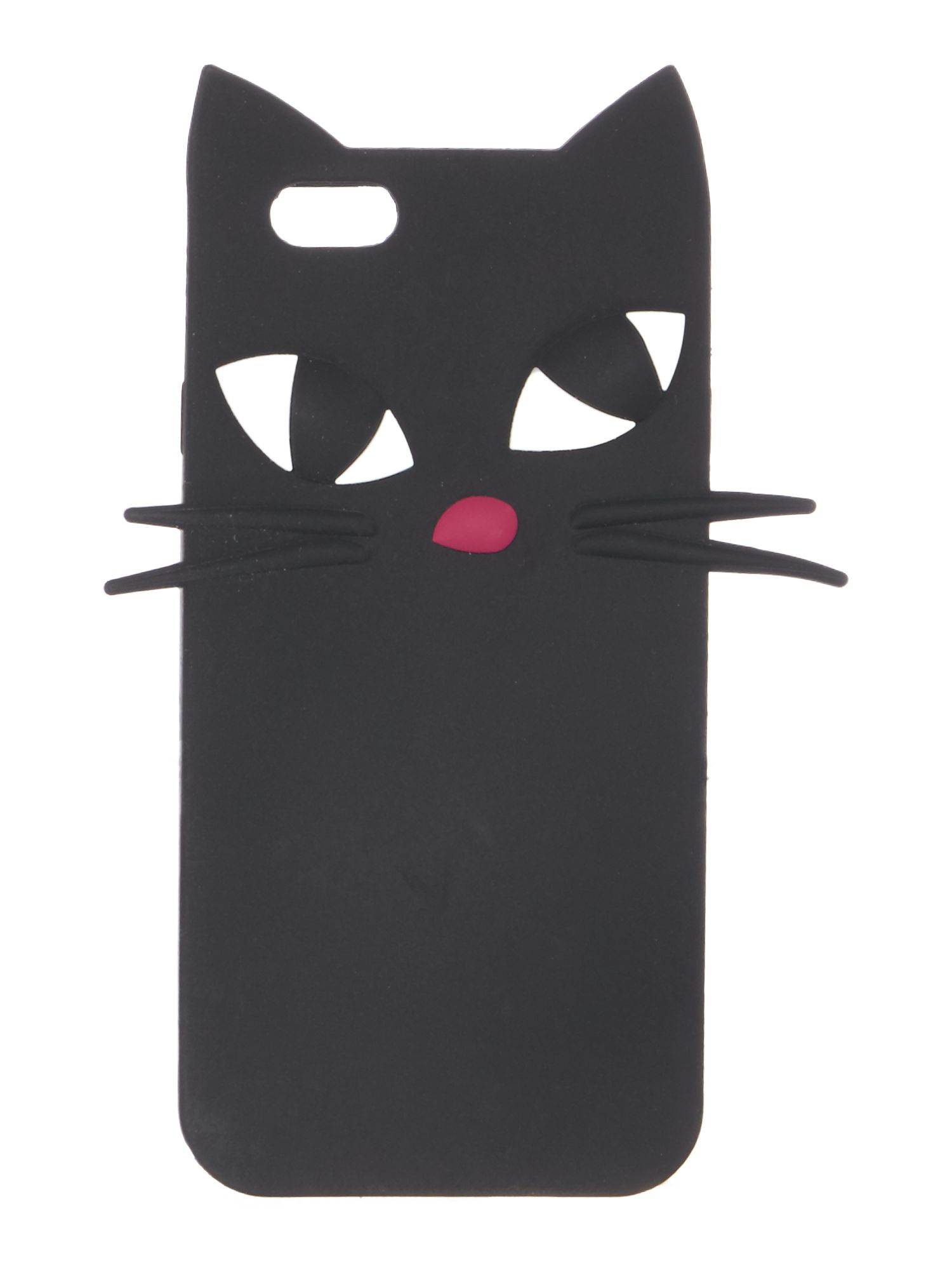 Lulu Guinness Blk kooky cat iphone 6 case, Black