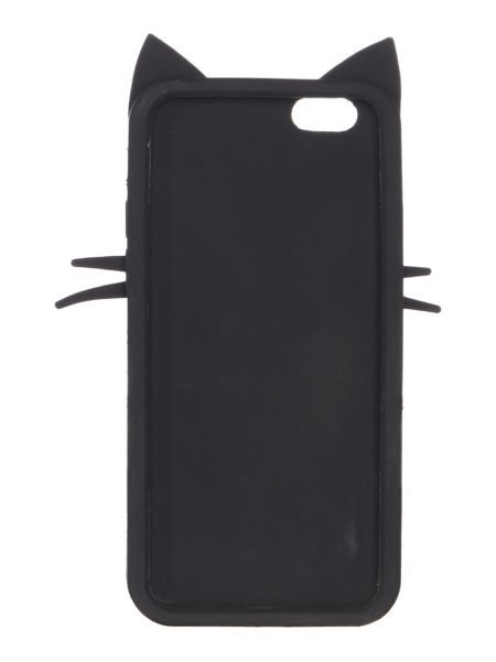 Lulu Guinness Blk kooky cat iphone 6 case