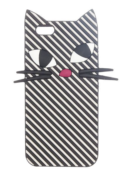 Lulu Guinness Mono stripe kooky cat iphone 6 case
