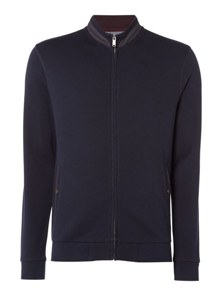 Linea Metz Interlock Zip Through Funnel Neck Sweat