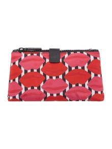 Lulu Guinness Multi lips dbl compartment make up bag