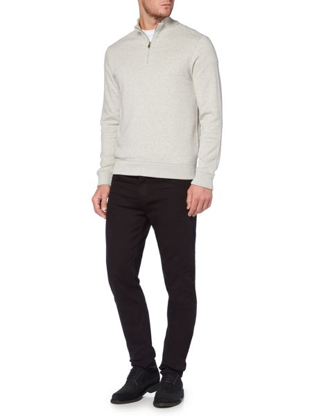 Linea Mauriac Funnel Neck Zip Through Sweat